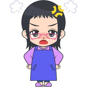怒ったメガネお母さん【無料イラスト・フリー素材】