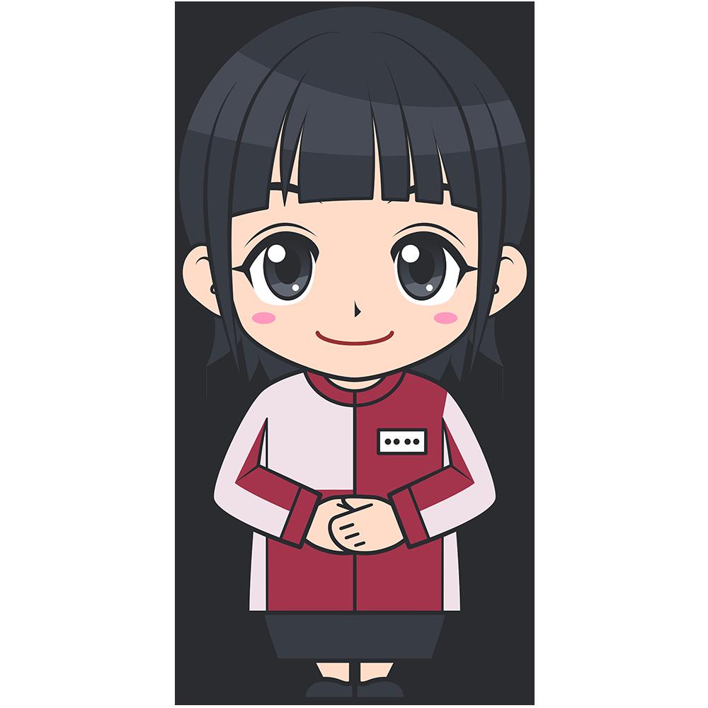 セブンイレブンのコンビニ女性店員(2)【無料イラスト・フリー素材】