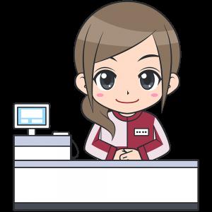 コンビニのレジ店員(セブンイレブン-1)【無料イラスト・フリー素材】