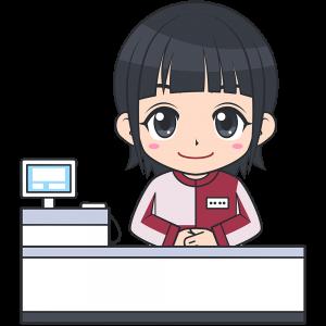 コンビニのレジ店員(セブンイレブン-2)【無料イラスト・フリー素材】