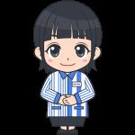 ローソンのコンビニ女性店員(2)【無料イラスト・フリー素材】