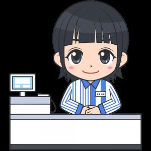 コンビニのレジ店員(ローソン-2)【無料イラスト・フリー素材】
