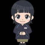 ファミリーマートのコンビニ女性店員(2)【無料イラスト・フリー素材】