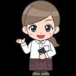 女性カフェ店員・ウエイトレス【無料イラスト・フリー素材】
