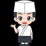 和食の男性料理人【無料イラスト・フリー素材】