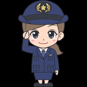 女性警察官【無料イラスト・フリー素材】