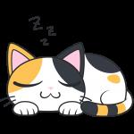 寝ている三毛猫【無料イラスト・フリー素材】