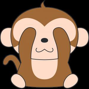 見ザル猿のイラスト無料フリー