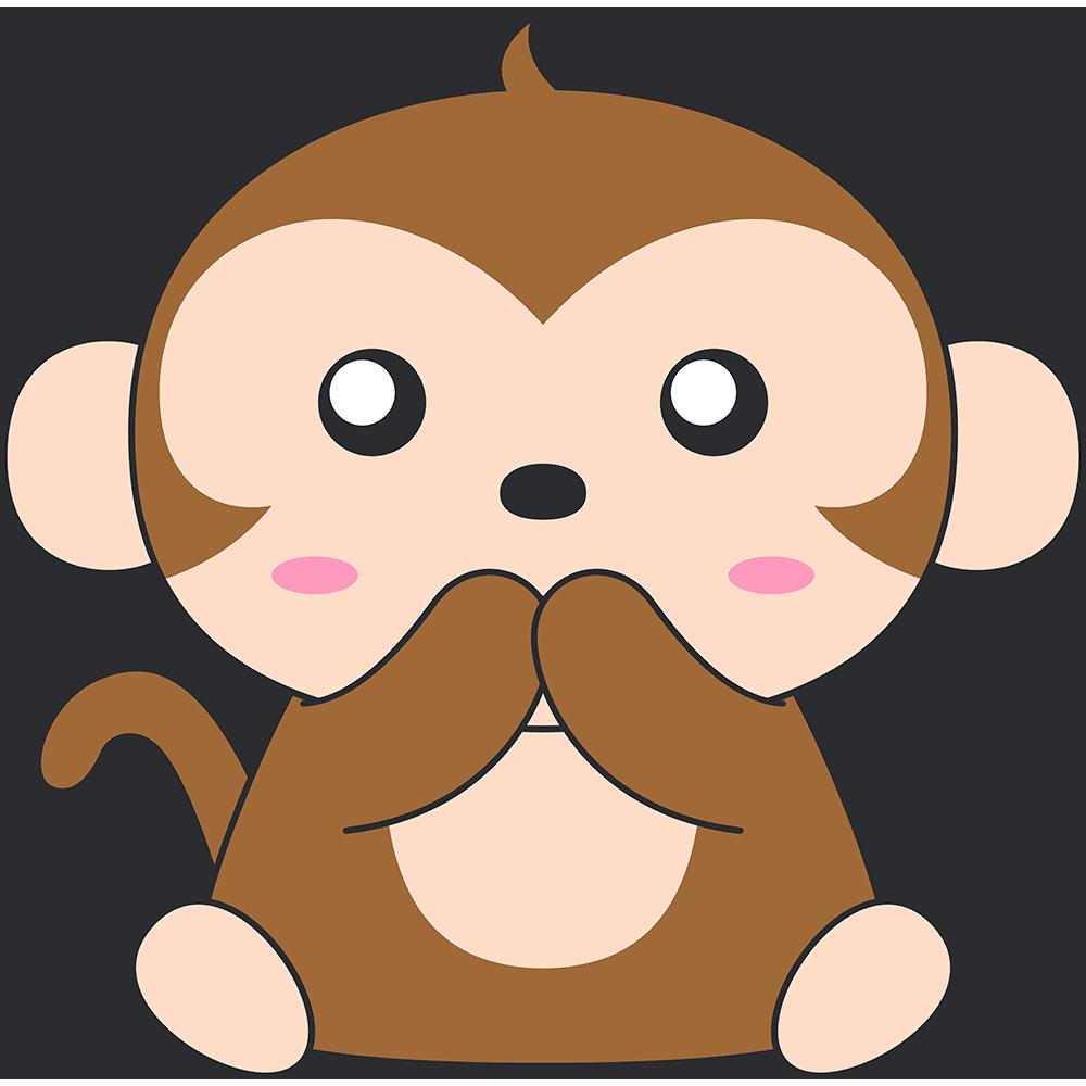 言わザル(猿)のイラスト【無料・フリー】