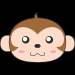 サル(猿)の顔イラスト【無料・フリー】