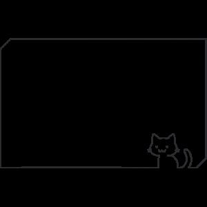 猫フレームのイラスト(2)【無料・フリー】