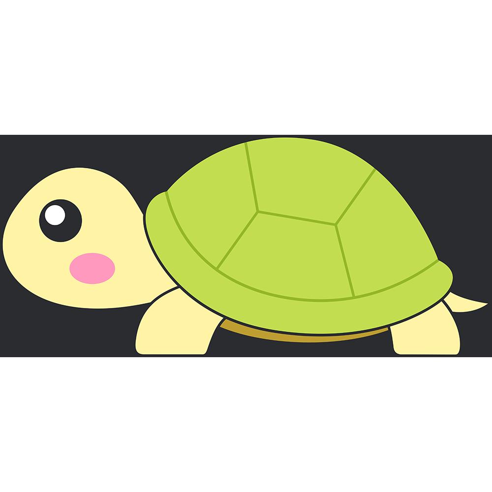 リクガメ(亀)のイラスト【無料・フリー】