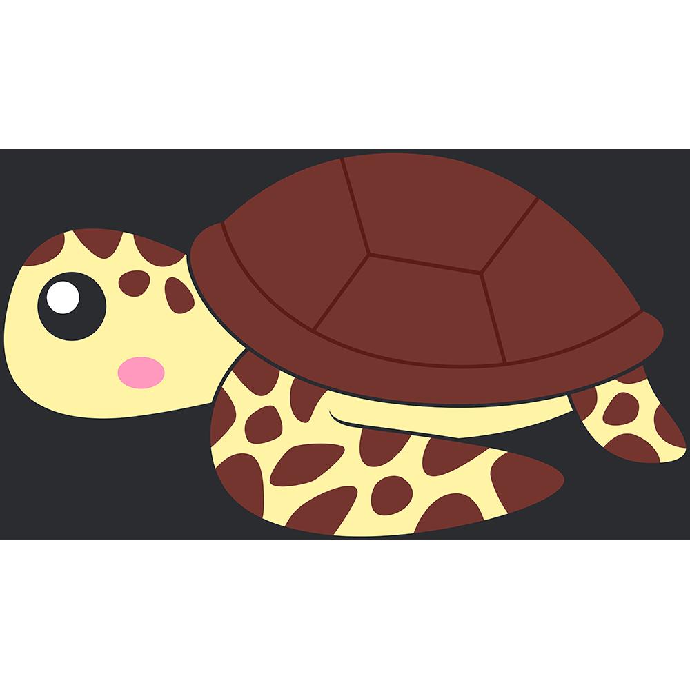 ウミガメ(亀)のイラスト【無料・フリー】