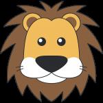 オスライオンの顔イラスト【無料・フリー】
