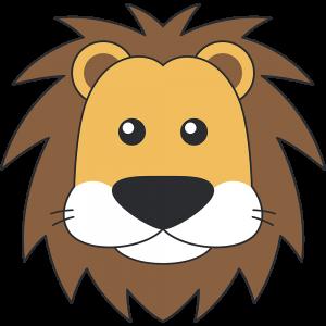 オスライオンの顔