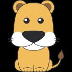 メスライオンのイラスト【無料・フリー】