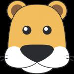 メスライオンの顔イラスト【無料・フリー】