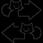 猫矢印のイラスト(2)【無料・フリー】