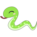 かわいいヘビ(蛇)のイラスト【無料・フリー】