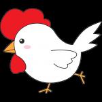 走るニワトリ(鳥)のイラスト【無料・フリー】