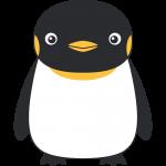 コウテイペンギン(鳥)のイラスト【無料・フリー】