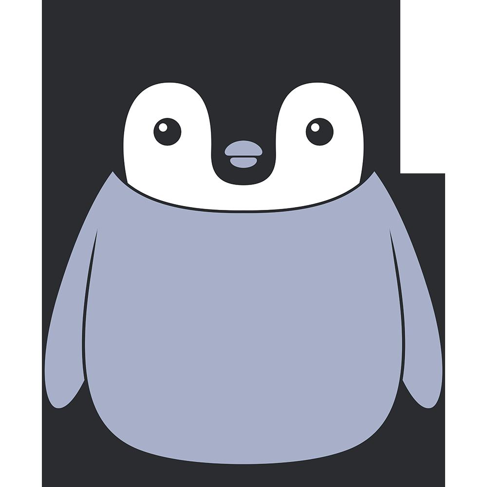 コウテイペンギンのヒナ(鳥)のイラスト【無料・フリー】