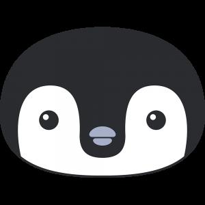 コウテイペンギンのヒナ(鳥)の顔