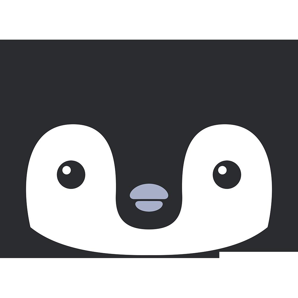 コウテイペンギンのヒナ(鳥)の顔イラスト【無料・フリー】