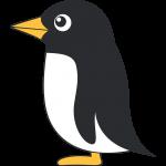 アデリーペンギン(鳥)のイラスト【無料・フリー】