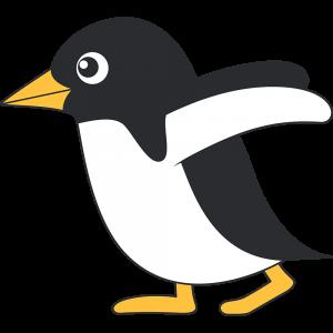 歩くアデリーペンギン(鳥)のイラスト【無料・フリー】
