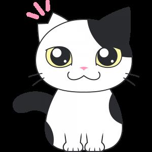 サクラ猫のイラスト【無料・フリー】
