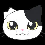サクラ猫の顔イラスト【無料・フリー】