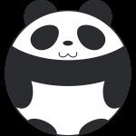 丸いパンダのイラスト【無料・フリー】
