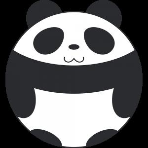 丸いパンダ