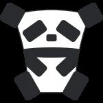 四角いパンダのイラスト【無料・フリー】