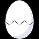 ひびの入った卵のイラスト【無料・フリー】