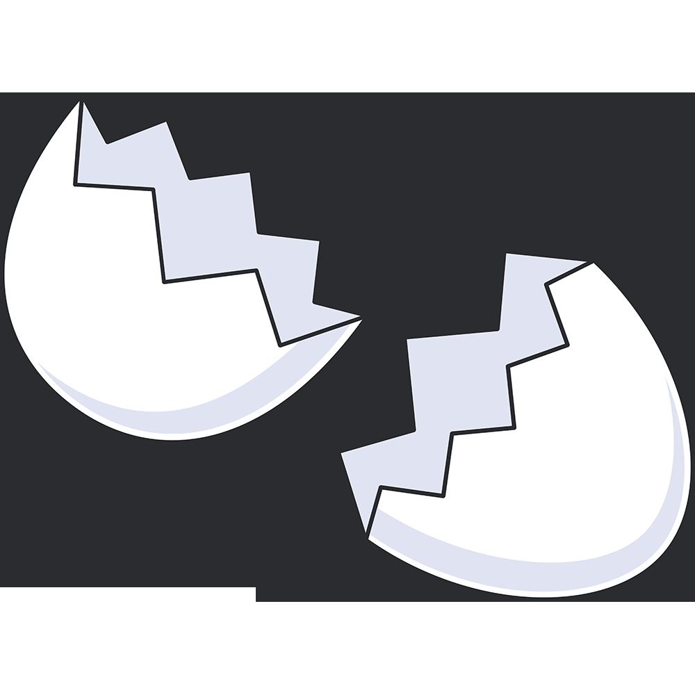 割れた卵のイラスト【無料・フリー】