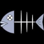 魚の骨のイラスト【無料・フリー】