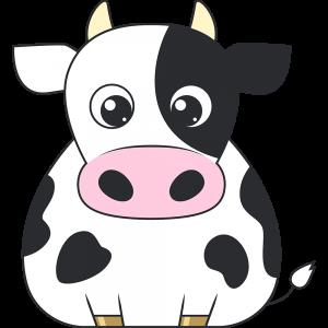 乳牛のイラスト無料フリー