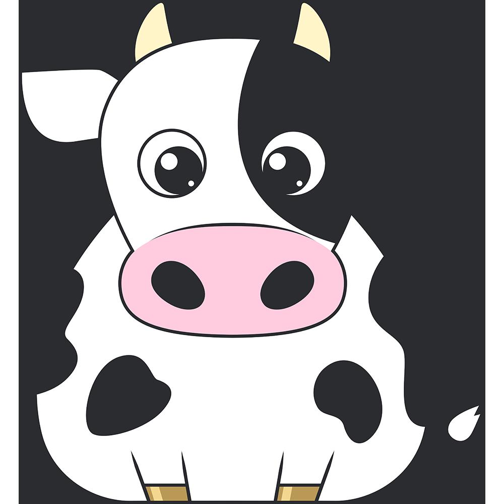 乳牛のイラスト【無料・フリー】