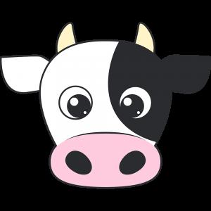 乳牛の顔イラスト無料フリー