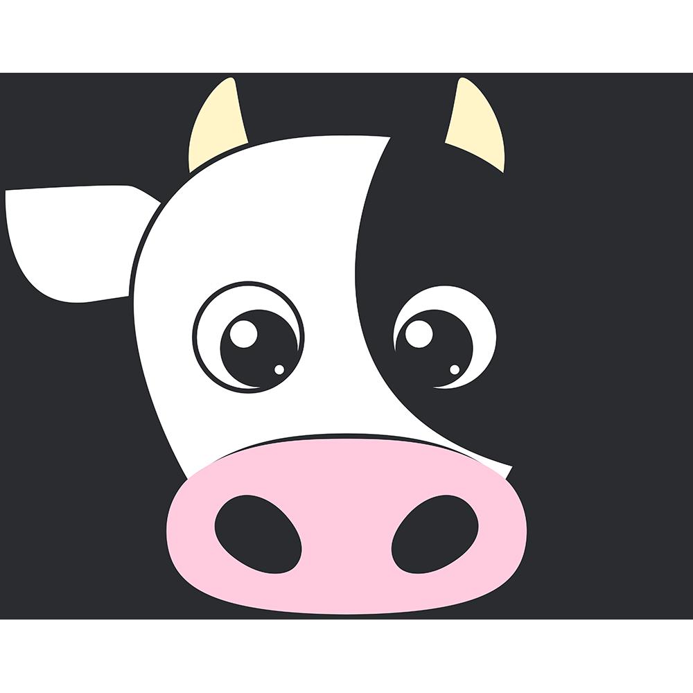 乳牛の顔イラスト【無料・フリー】