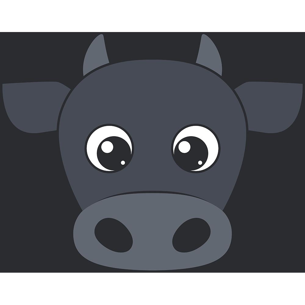 牛の顔イラスト【無料・フリー】