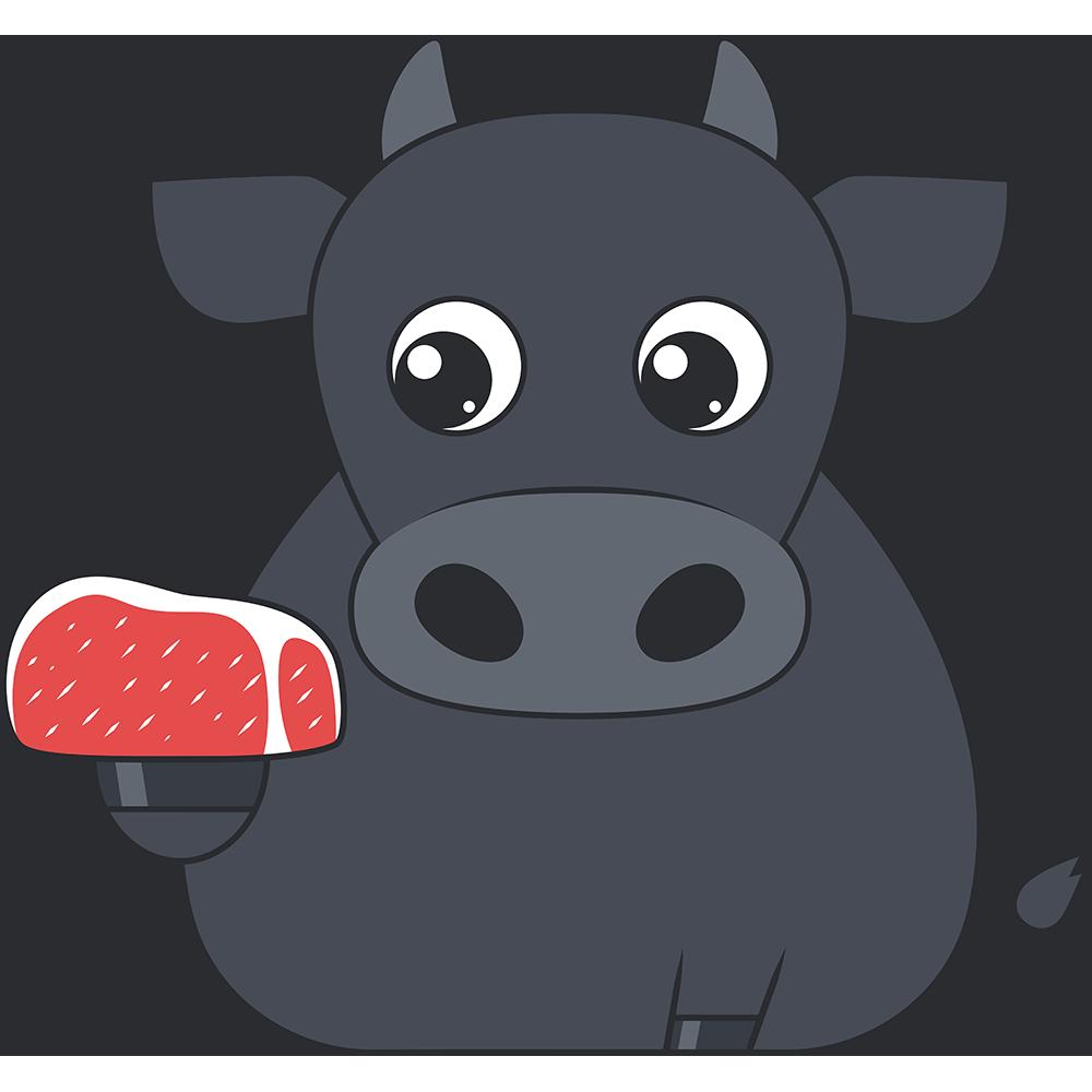 牛とお肉のイラスト【無料・フリー】