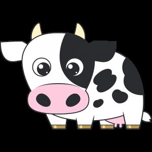 乳牛のイラスト(2)