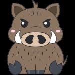 イノシシ(猪)のイラスト【無料・フリー】