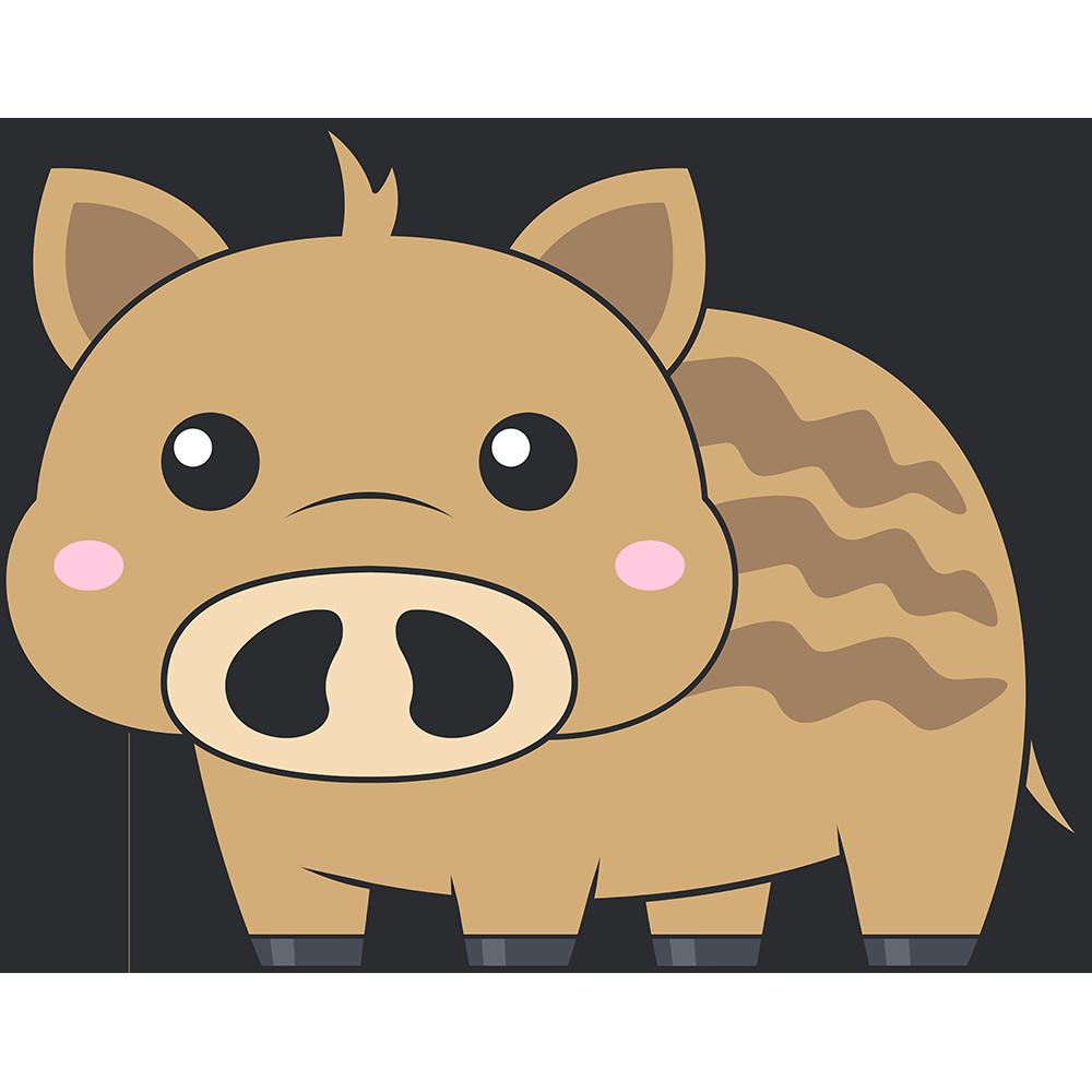 ウリ坊(猪)のイラスト【無料・フリー】