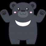 ツキノワグマ(熊)のイラスト【無料・フリー】