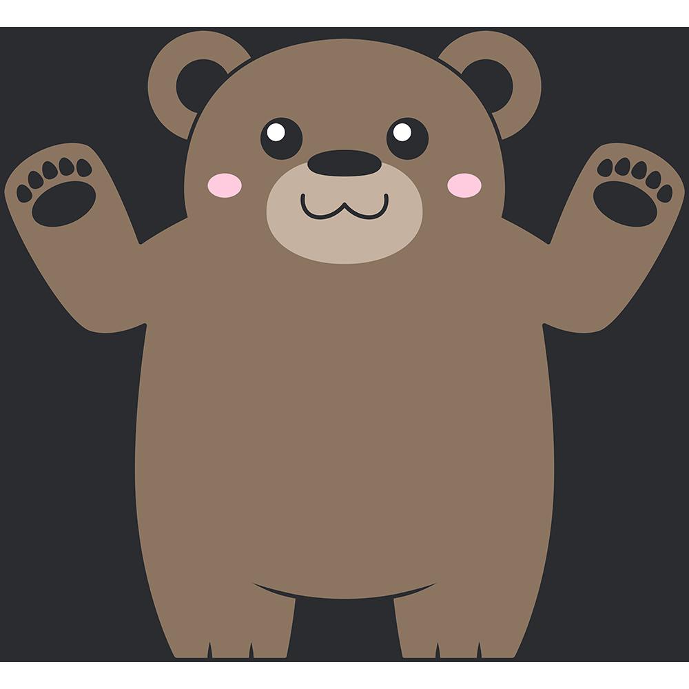ヒグマ(熊)のイラスト【無料・フリー】