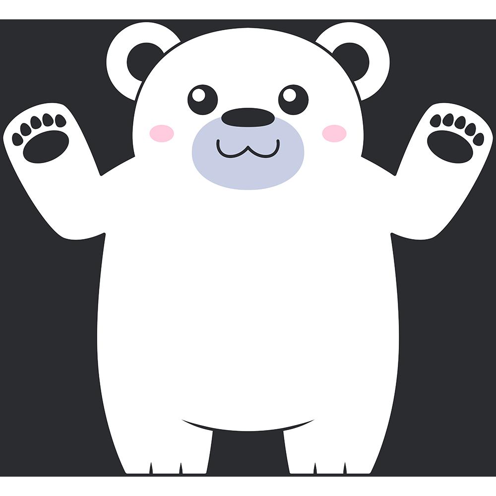 シロクマ(熊)のイラスト【無料・フリー】